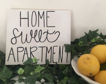 Home sweet apartment sign, apartment decor, apartment wall decor, apartment wooden sign, home sweet home, apartment wooden signs, wooden art