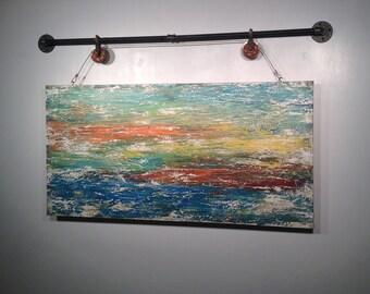 Abstract painting,acrylic wall art,original art,industrial,holiday gift living room,wall decor,Jmjartstudio,54 Inche,gift for him
