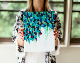 Bleeding Dots Abstract Painting