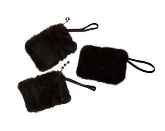 Cell phone case / purse made of recycled real fur