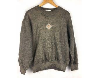 LINDBERGH Long Sleeve Sweatshirt Knitwear Medium Size Sweatshirt Spell Out Logo Embroidered