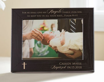 Personalized Baptism Picture Frame: Personalized Baptism Gift, Personalized Christening, Custom Godchild Gift, Baptism Keepsake SHIPS FAST