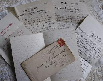 Antike handgeschriebenen Buchstaben... 1893..1902