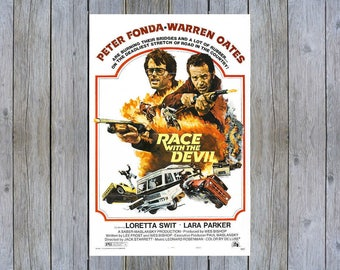 1975 Race with the Devil with Peter Fonda vintage movie poster print