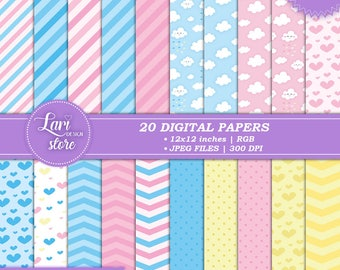 Rain Love Digital Paper