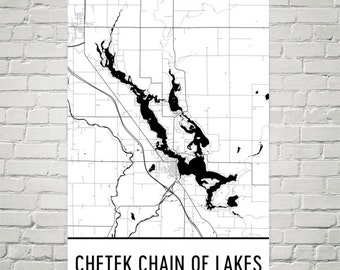 Chetek Chain of Lakes Wisconsin, Chetek Lake WI, Chetek Lakes Map, Wisconswin Map, Lake House Decor, Lake Map, Chetek Lake Fishing, Cottage