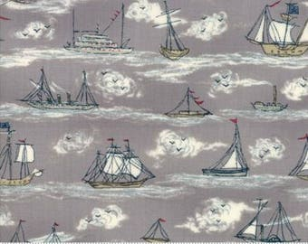 Fabric by the Yard - Ahoy Me Hearties - Busy Seas by Janet Clare for Moda