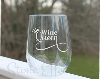wine glasses with sayings, stemless wine glasses, etched wine glasses, funny wine glasses,  Wine Glass, Etched - 17oz, Wine Glasses