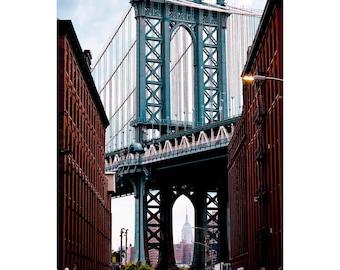 "New York City Photography, ""Down Under the Manhattan Bridge"" Print DUMBO Wall Art Prints"