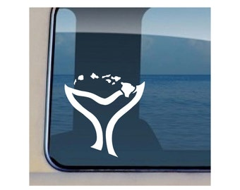 Humpback Decal Hawaiian Whale Fluke Sticker - 404