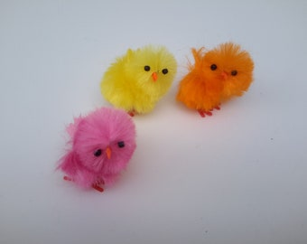 Set of 3 chicks Decoration or Easter creation