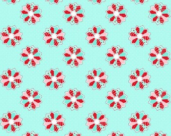 Dresden in Aqua from the A Little Sweetness Collection by Tasha Noel for Riley Blake, Choose the Cut, Tiny Quilt Blocks