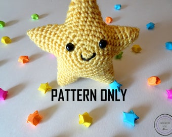 Star Cutie Pattern - Crochet Star Pattern - Star Amigurumi Pattern - Star Stuffie Pattern - Star Plushie Pattern - Stuffed Animal Pattern