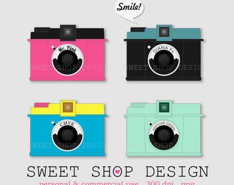 Diana F Camera Clip Art, Camera Ilustration, Photography Clip Art, Royalty Free Clip Art, NF01, Instant Download