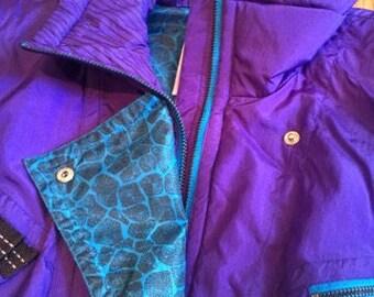 Vintage Womens Kaelin Purple Ski Suit