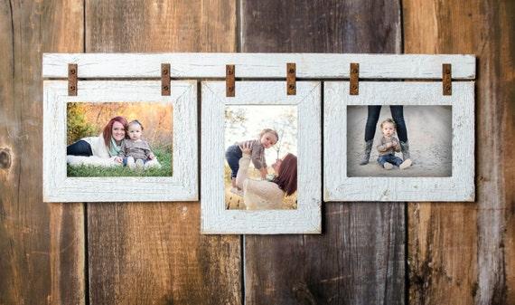 2 Barnwood Collage White Frame 3 8x10 Multi Opening