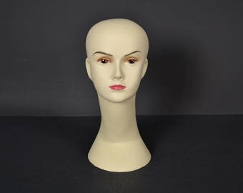 Vintage  Mannequin with Head -  Hat  Wig Mannequin - Retro Shop display