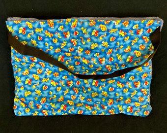 "Beach Towel Pool Bag Chair & Car Seat Cover - ""Bubagoos II"" - Royal Blue Pocket - Caribbean BLUE Towel) (BTB-52-0147-carbl-LB8L-Y7)"