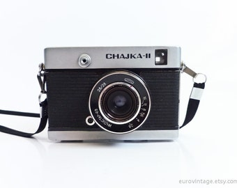 Vintage Half Frame Camera Chajka II Industar 69 Lens Russian