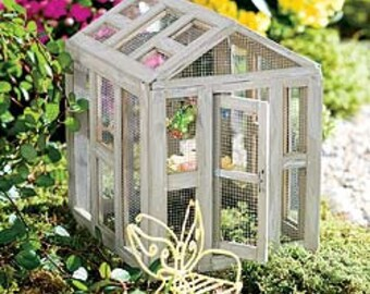 Fairy Garden - Wooden/Screened - Butterfly house