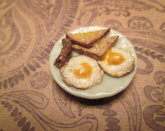 Dollhouse Miniature Eggs and Sausage