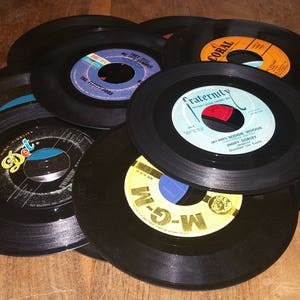 "Pop Easy Listening Instrumental Vocal Genre Vintage 7"" 45 RPM Vinyl Records DIY Arts & Crafts Or Listen Lot of 20"