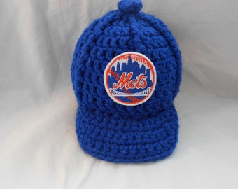 d57a1299fe679 ... 59fifty fitted hat heather blue 28ff7 low cost new york mets inspired  crochet baby hat baseball newsboy cap hat with embroidered logo ...