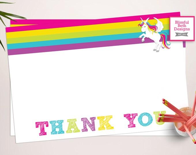 UNICORN THANK YOU Unicorn Printable Thank You Notes, Instant Download, Unicorn Thank You Note, Thank You Note, Lularoe Unicorn, Lularoe