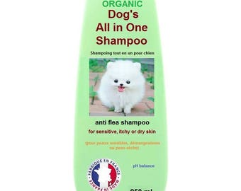 Organic Dog's All in One Anti Flea Shampoo  - Made in France    (for sensitive, itchy or dry skin)   *250mL