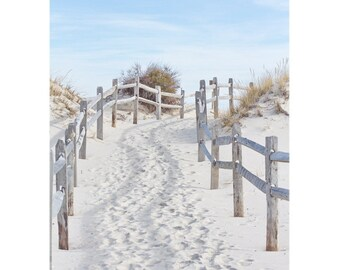 Beach Photography, Coastal Wall Art, Sand Dune Wall Art, Beach Path Photo, Beach Art, Blue and Beige Seashore Decor, Island Beach Path