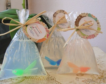 10 Fish In A Bag Soap Favors, Carnival themed party, carnival theme party decoration, party favor for kids, kids party favors, kids gifts