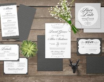 Classy Wedding Invitation Set