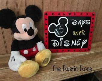 Disney Countdown Chalkboard/Disney Vacation Countdown Calendar/ Mickey Mouse Chalkboard