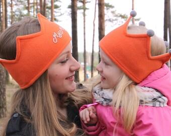 Monogrammed crown | Custom ear warmer | Fleece crown | Fleece Headband | Fleece ear warmer | Kids photo crown | Headwarmer | Personal crown