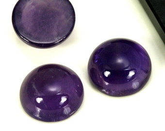 1 pc 10 mm amethyst high dome 4.5 mm genuine round cabochon 100CB