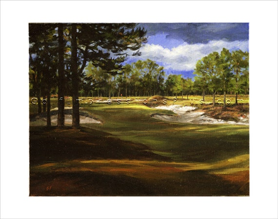 Framed Golf Art Canvas Giclée U.S. Open Special Edition.