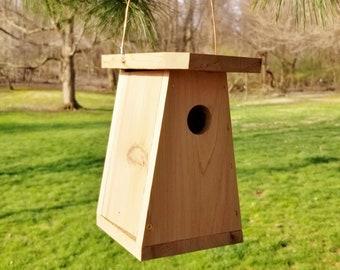 Handmade garden décor functional birdhouse Handmade rustic wood garden décor bird house Outdoor functional wooden garden art birdhouses
