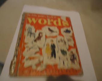 Vintage Words Little Golden Book, Copyright 1948, collectable