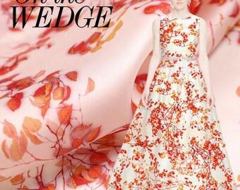 Summer whisper - European digital inkjet printing fabric Genduan stiff silk satin fabric