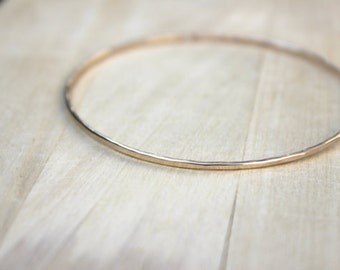 Gold Filled Bangle | Rose Gold Bracelet | Thin Bangle | Bridesmaid Gift [Irah Bracelet]