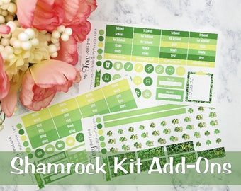 Shamrock Kit Add ons, Planner Stickers  [00347]