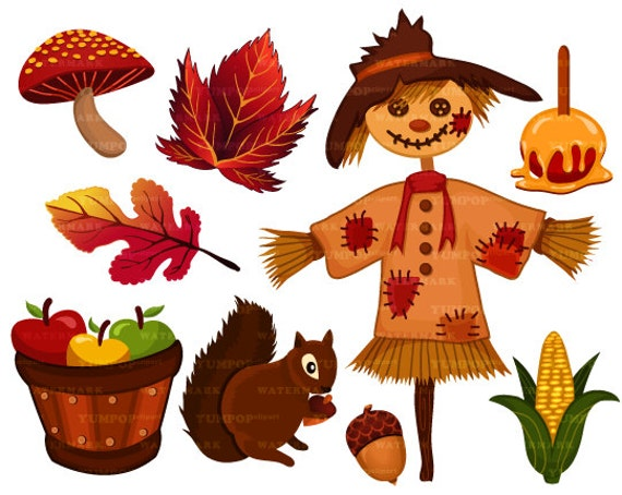 autumn season clipart fall season clipart thanksgiving rh etsy com fall season leaves clipart Seasons Clip Art