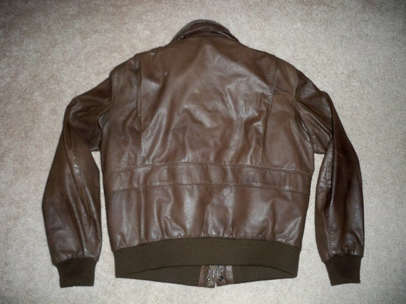 Men's Vintage in Riding Cruising Biker Korea 44 Motorcycle Berman's Brown Leather Coat Made Size Jacket rxCwOqCtn