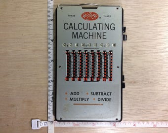Vintage Wizard Calculating Machine West Germany Used
