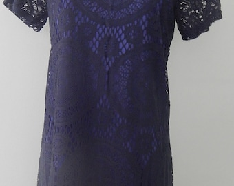 1960's 'Style' Navy blue lace Tunic