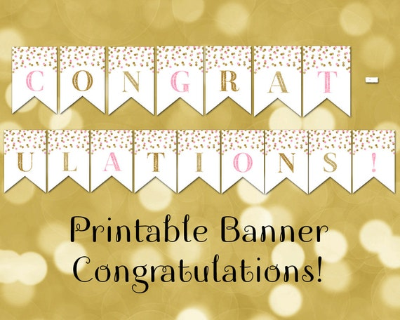 Effortless image with regard to congratulations banner printable