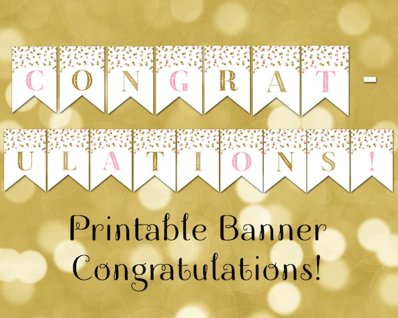 Modest image throughout congratulations banner printable