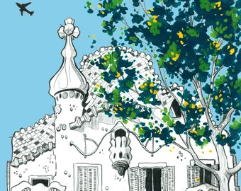 Day 31 Print: Gaudi's Casa Battlo