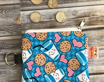 Cute Cookie and Milk Coin Purse