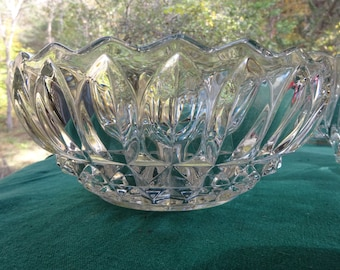 Indiana Glass Bowl, Indiana Glass Cupped Bowl